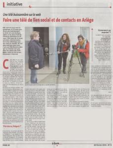 article de la gazette Ariégeoise du 26/02/2016
